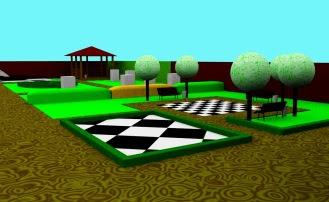 projekt ogrodu szachowego