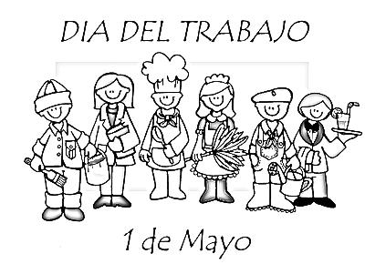 1 de mayo dibujos para colorear