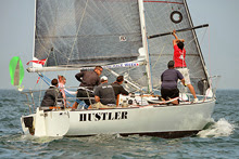 J/29 Hustler one-design offshore racer sailing Block Island