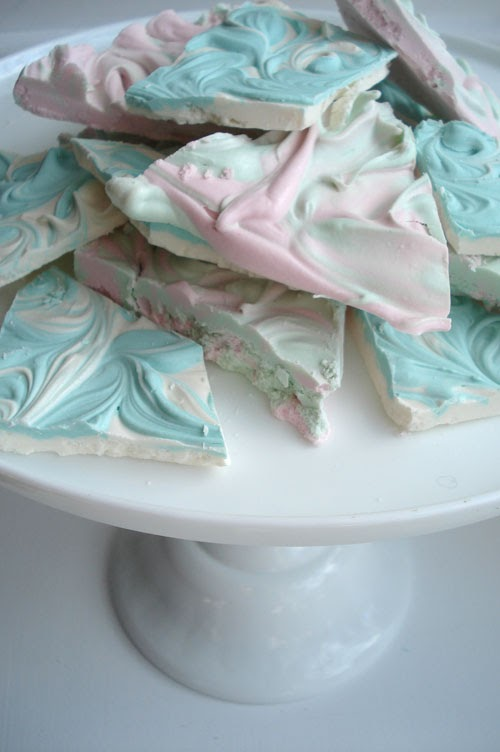 Marbleized Pastel Chocolate Bark