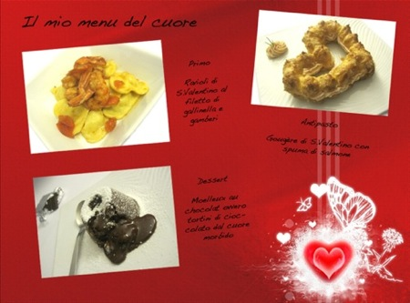 Un menu per S. Valentino