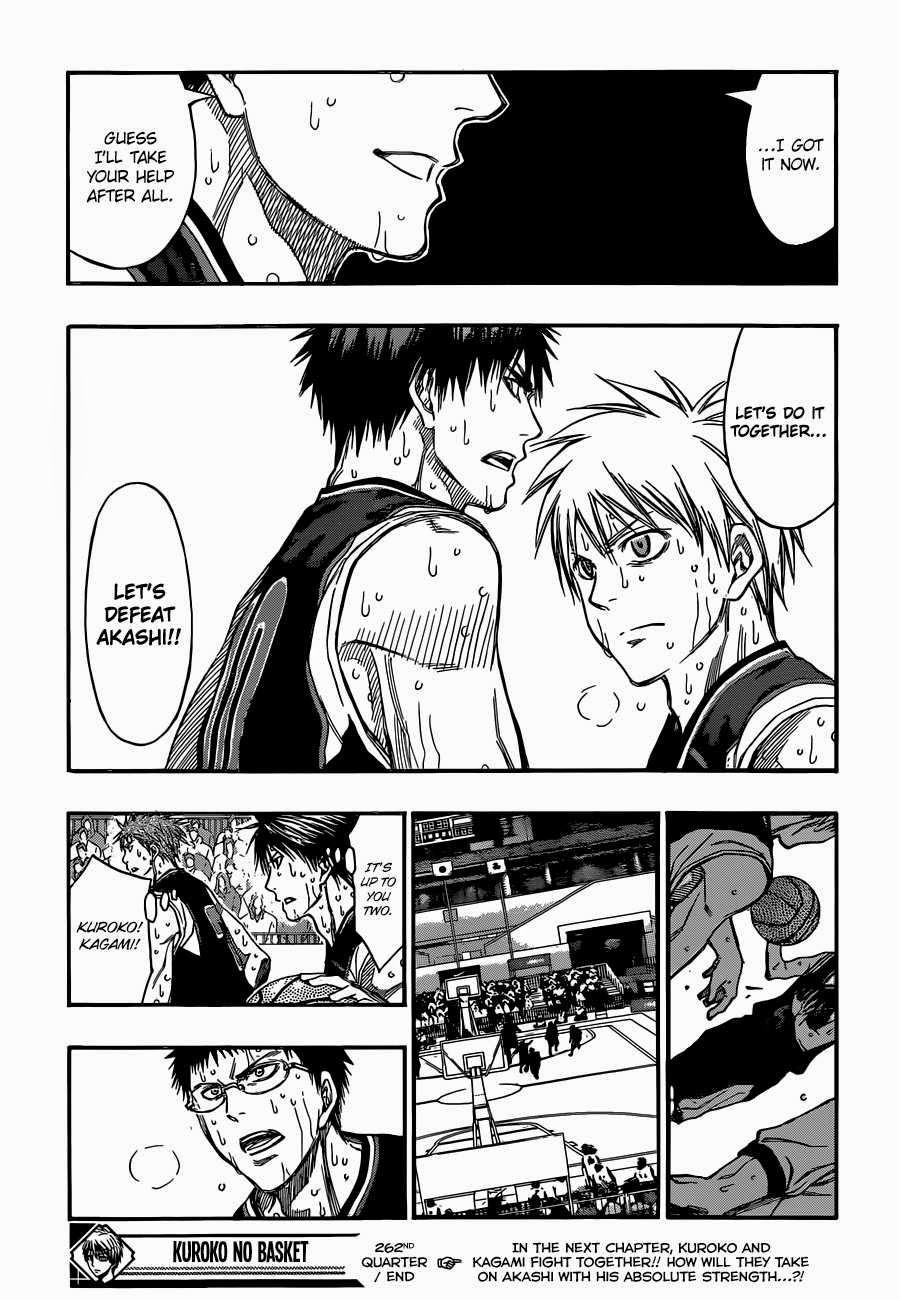 Kuroko no Basket Manga Chapter 262 - Image 18