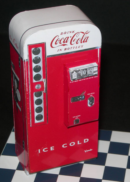 Vendo Coca Cola Machine Papercraft