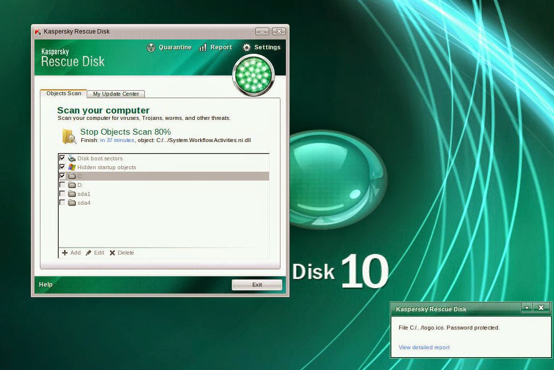 Kaspersky Rescue Disk utility
