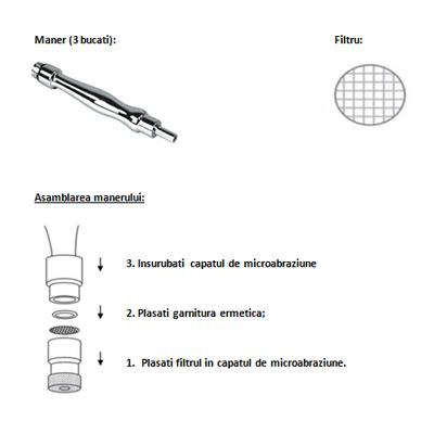 Aparat de Microdermabraziune - Asamblarea manerului