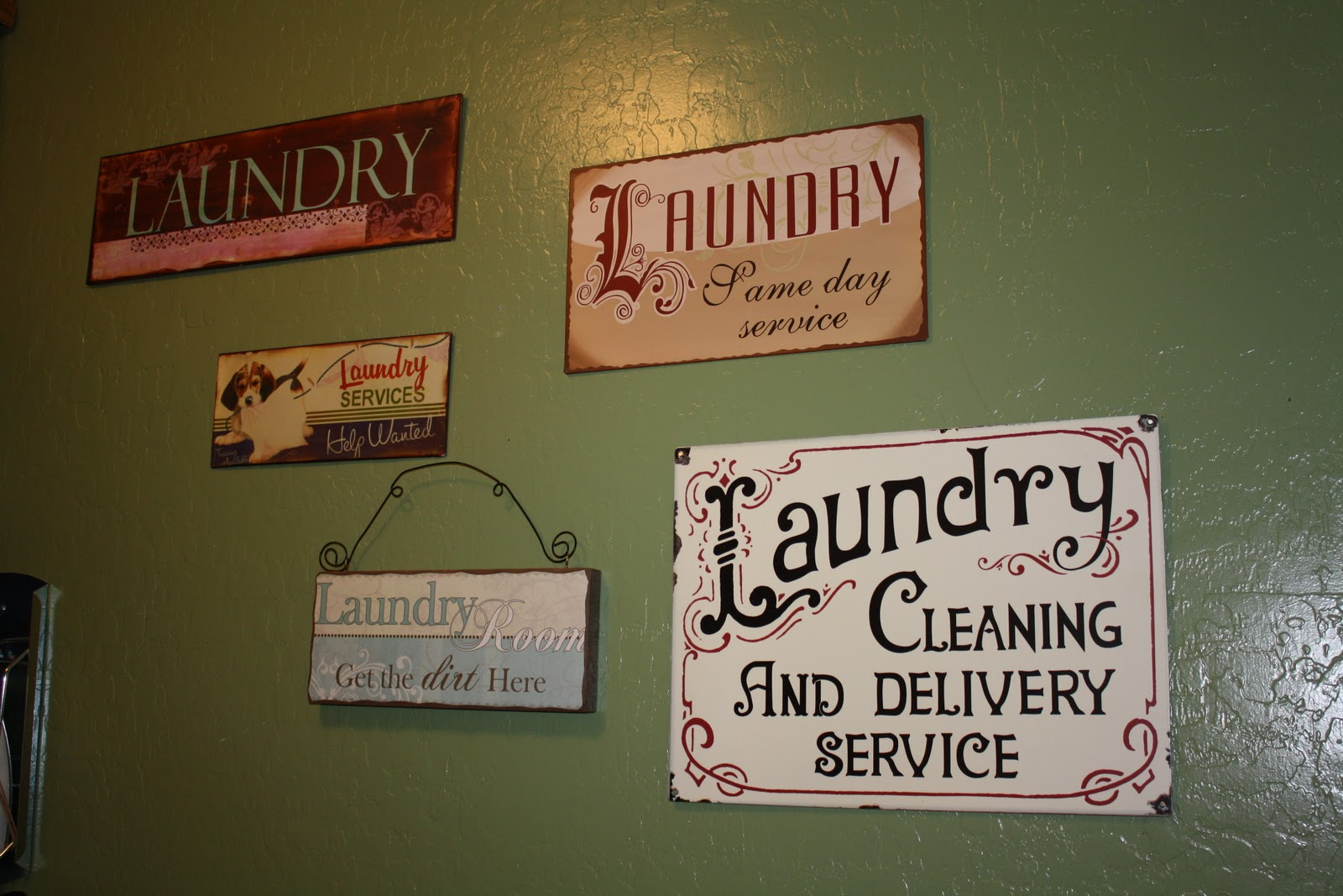 Lessons of a Newlywed: New Laundry Room Art