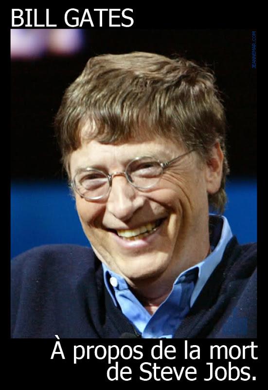 Bill Gates à propos de la mort de Steve Jobs.