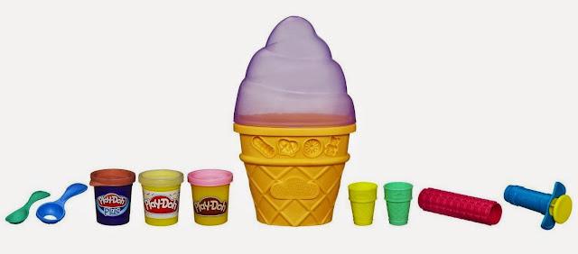 Bộ đồ chơi máy làm kem Playdoh với bột nặn và dụng cụ làm kem