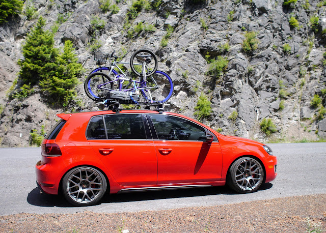 Aerodynamic Roof Rack, Basket, And One Bike Mount. Was A Pretty Quiet  Setup, Drove To Klamath Falls And Barely Heard It Up There. $300 For All.