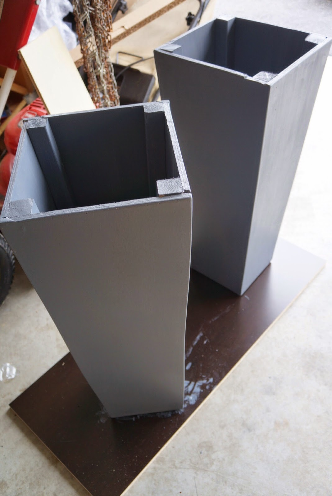 Tall Square Planters A Diy Tale