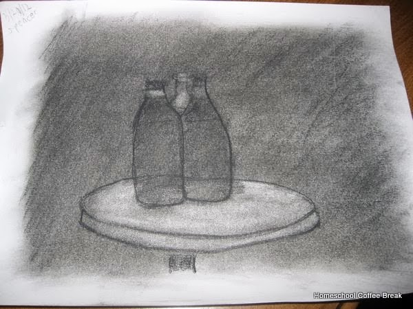 Pencil and Charcoal from the Archives on the Virtual Refrigerator art link-up hosted by Homeschool Coffee Break @ kympossibleblog.blogspot.com