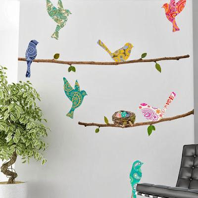 Pájaros para decorar paredes.