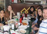RICC end of semester lunch, summer 2011. From left to right: Rashmi Nair, Magali Lemahieu, Jeanine Trinh Le, Kyle Benson, Selin Volkan, Lucas Mazur