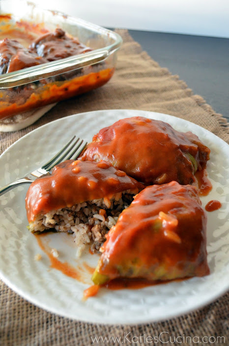 Stuffed Cabbage from KatiesCucina.com