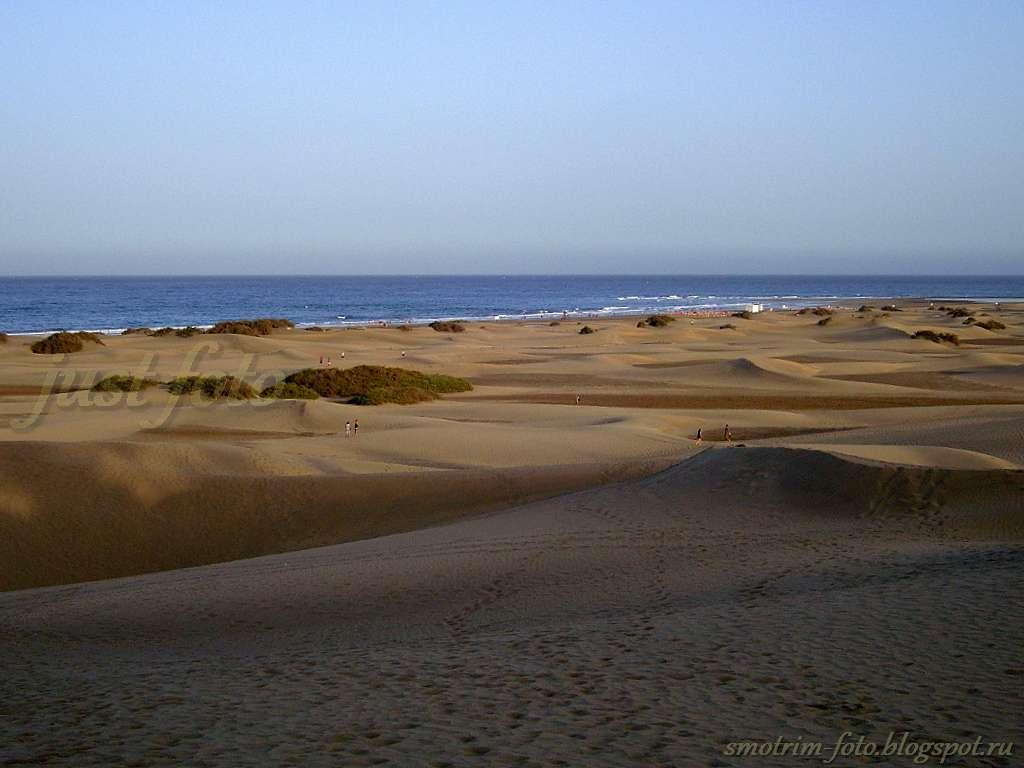 Пляжи в дюнах острова Гран Канария фото