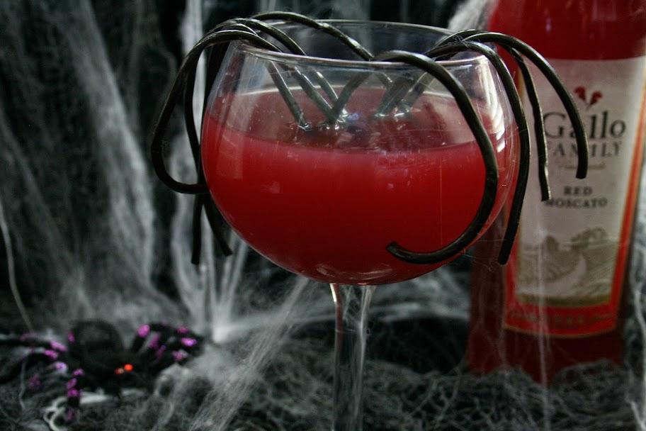 Red Moscato Spider Sangria #SundaySupper