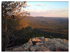 Evening view from the Mogollon Rim (Photo by D. Sayre)
