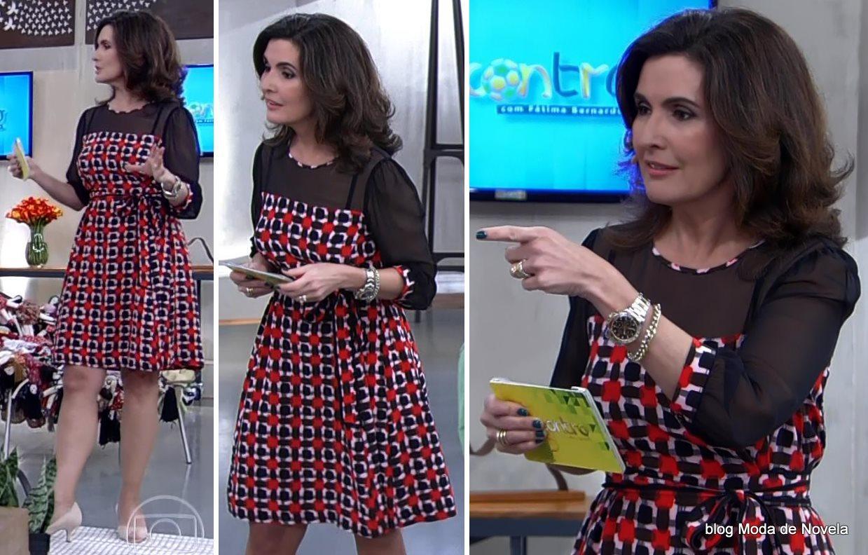 moda do programa Encontro - look da Fátima bernardes dia 24 de junho