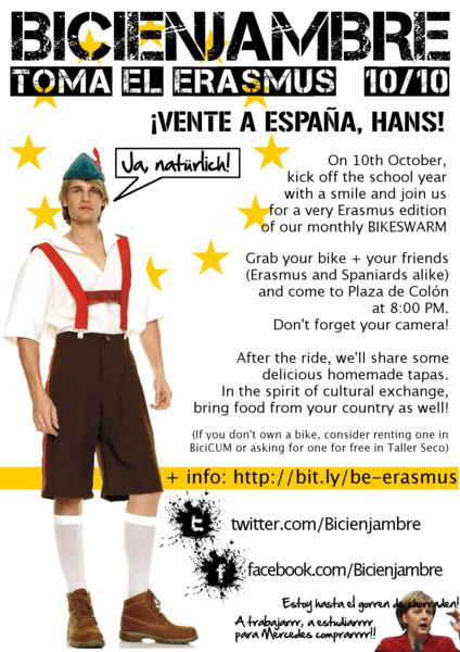 Bicienjambre de octubre 10/10 Toma el Erasmus
