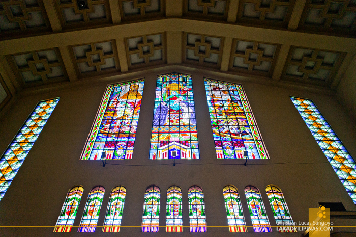 Stained Glass Windows Sto. Domingo Church in Quezon City