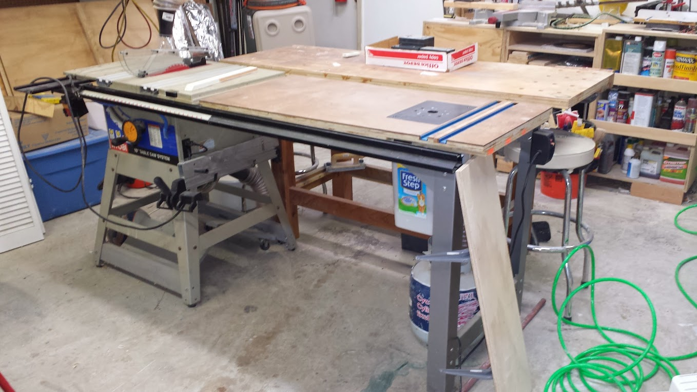 Table saw standbench woodworking talk woodworkers forum and yes i know i messed up making the top that is why there are 2 t tracks in it i put the router plate insert way too far in keyboard keysfo Image collections