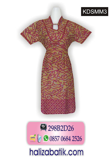 baju dres, jual baju, model baju dress batik