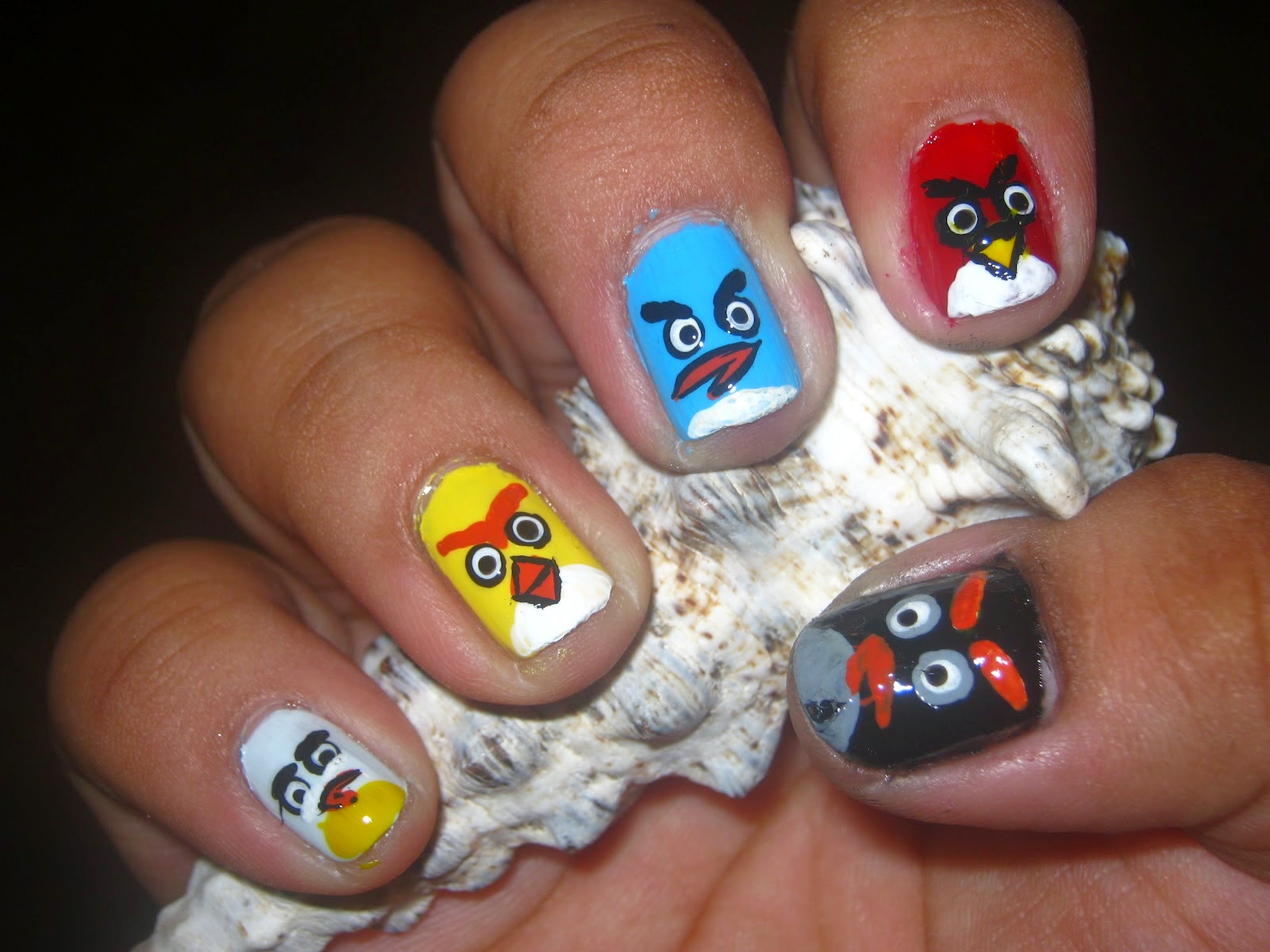 Nail Design: Nail Art Design Angry Birds