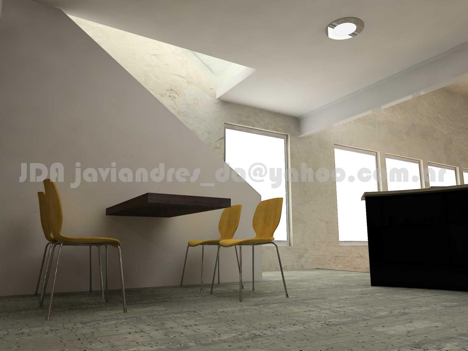 Arquitec maquetas cocina minimalista 3d for Proyectos minimalistas