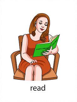 read%2520 %2520flashcard Verb flashcard