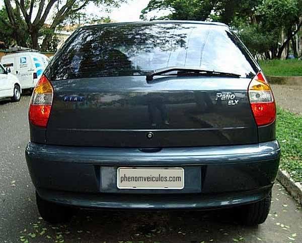 Traseira, Fiat Palio 2003 ELX 1.6 16V completo
