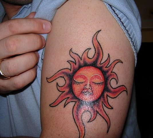 sun tattoos tribals