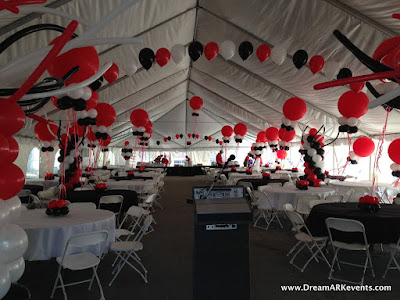 DreamARK Events Blog: Tent balloon decoration.