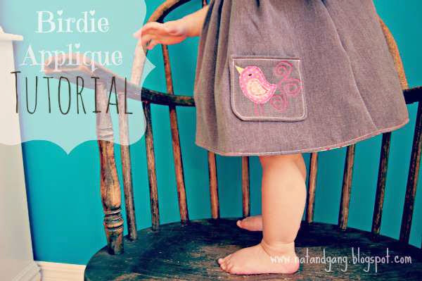 A little birdie told me... {Toddler Dress + Applique Tutorial}