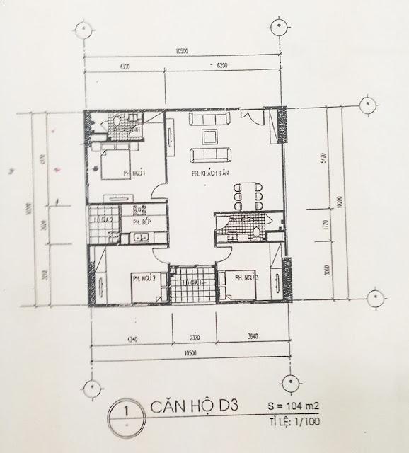 Căn D3 dự án chung cư 60 Hoàng Quốc Việt.