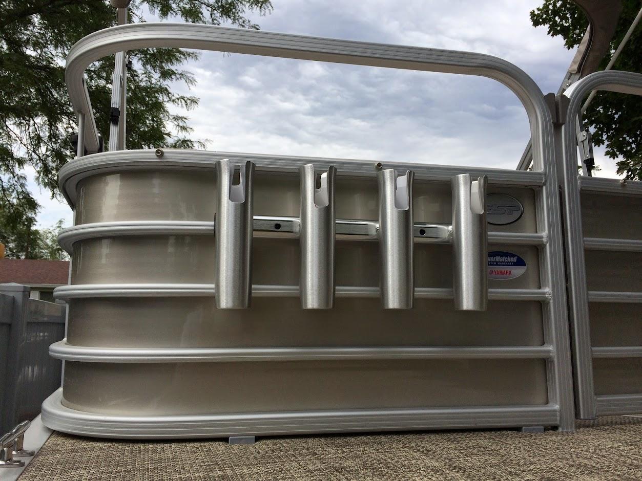 Pontoon boat rod storage ideas ppi blog for Fishing rod holders for pontoon boats