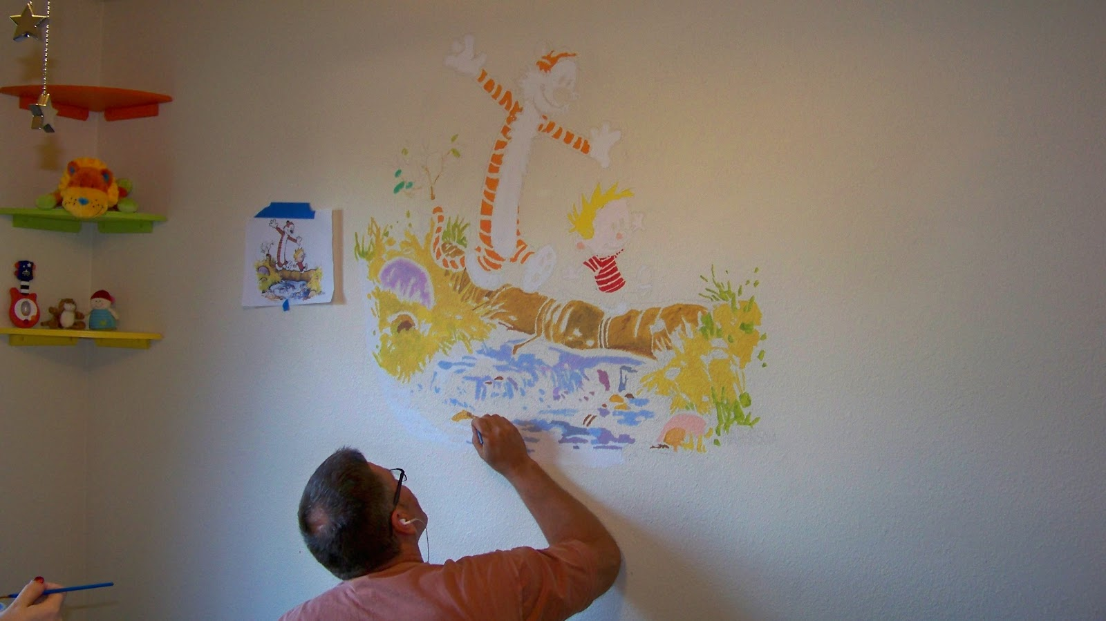creating a mural for the nursery calvin hobbes edit done image