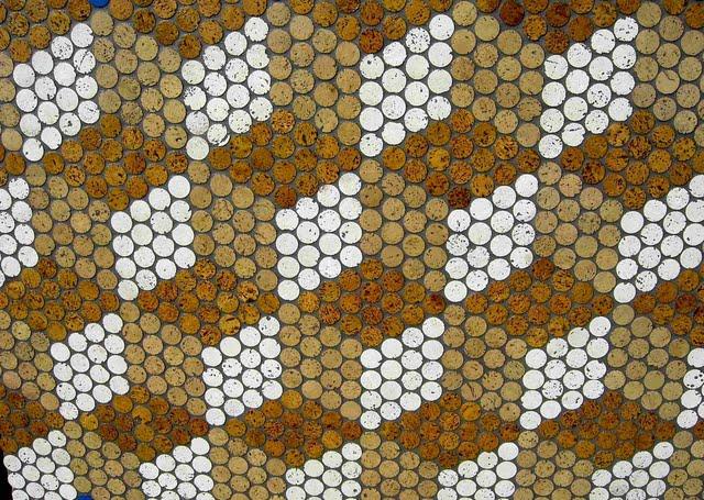 Mosaik Dusche Fugen : Cork Mosaic Penny Tile