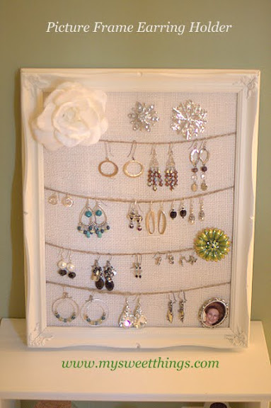 How To Make An Earring Holder Using A Picture Frame