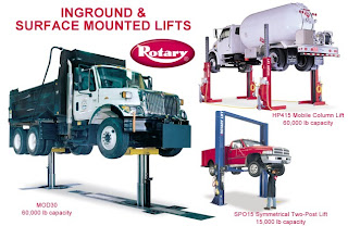 rotary lift capacity
