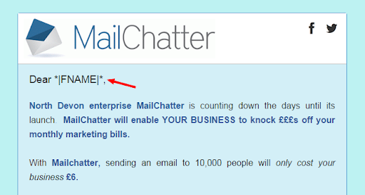 Create personalised email