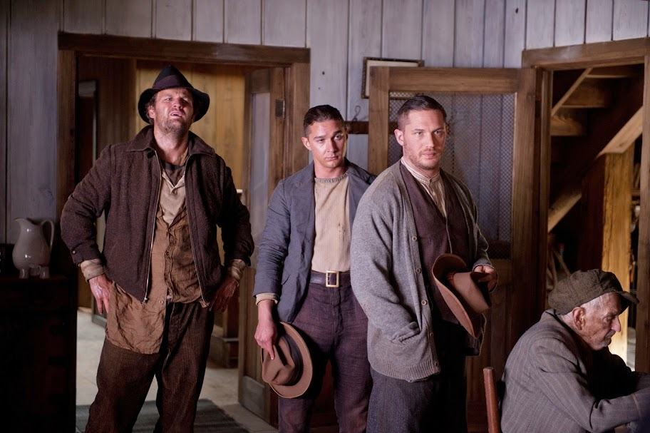 Jason Clarke, Shia LaBeouf and Tom Hardy in Lawless
