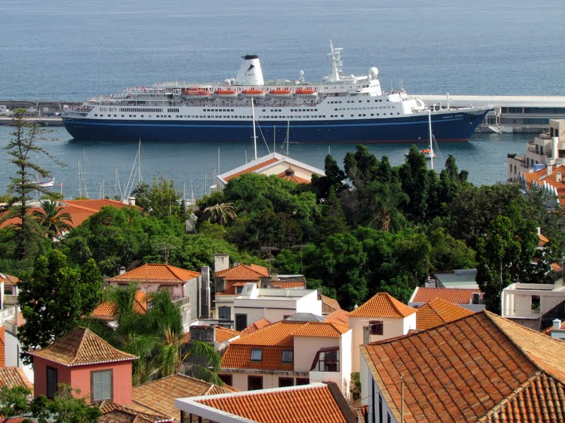 Marco Polo cruise ship in Funchal port