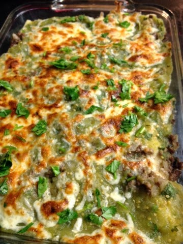 Eating Dinner With My Family: Quick Beef Enchiladas With Salsa Verde