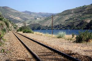 Train tracks in the Douro Valley