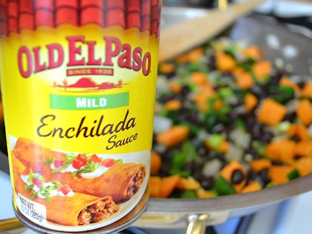 close up of a can of enchilada sauce