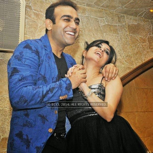 Sunny and Bhawna at Honey Katiyal's 36th birthday party held in Delhi.