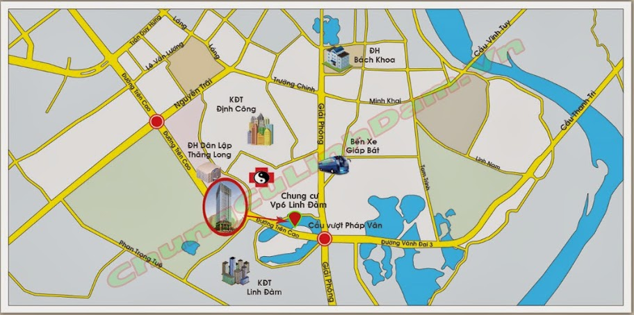 bản đồ trực tuyến chung cư vp6 linh đàm