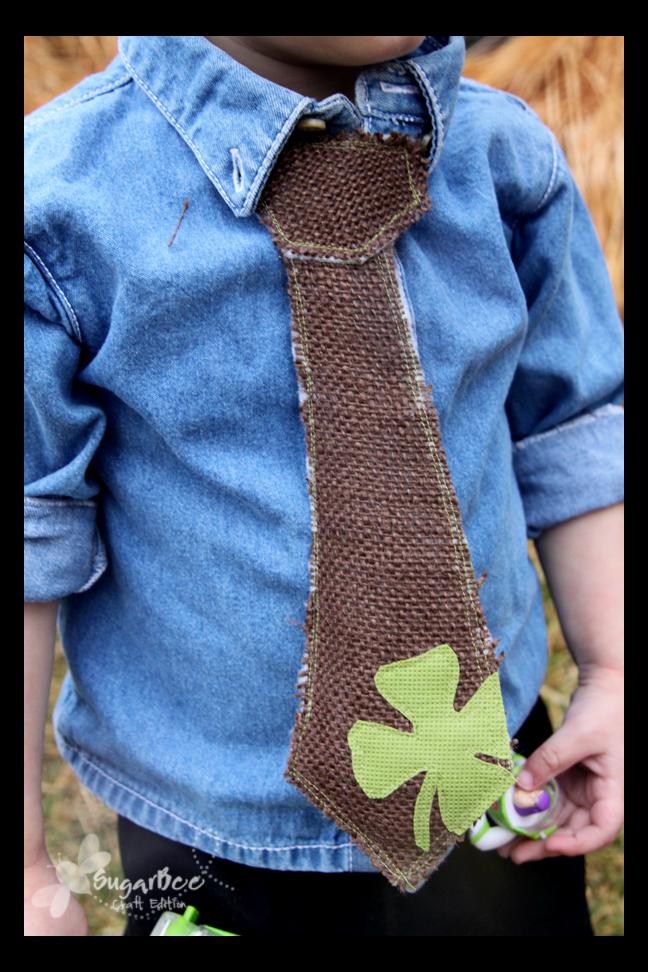 假男孩领带|容易圣帕特里克节装饰|缝纫项目|特色