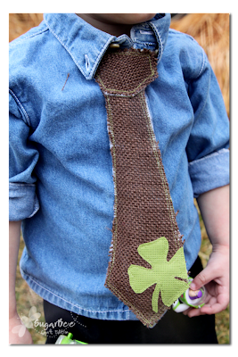 faux boy's tie with a shamrock