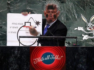 Warmonger Netanyahu at UN